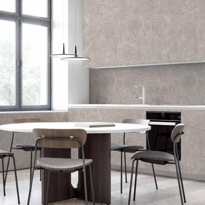Barbican Cement - washable self-adhesive opaque vynil for furniture and walls doors backslash kitchen grey minimal lokoloko