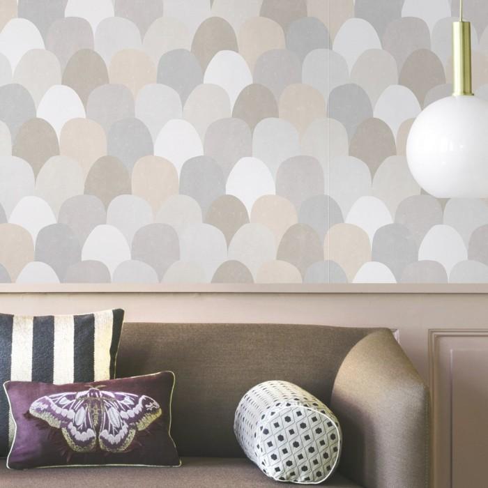 Grayfish scales - washable self-adhesive vinyl for furniture walls floors opaque laminate lokoloko detail