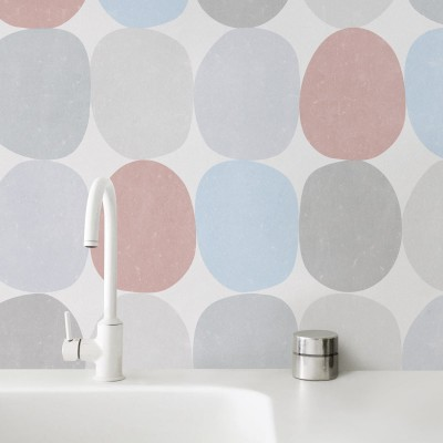 Pastel colored spheres washable self-adhesive vinyl lokoloko detail
