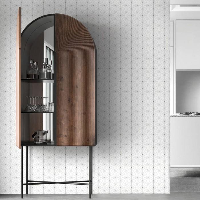 Abstract Hexagons 1 washable self-adhesive vinyl for furniture walls floors geometric kitchens bedrooms interior lokoloko
