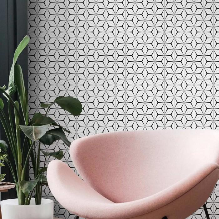 Abstract Hexagons 2 washable self-adhesive vinyl for furniture walls floors modern lokoloko