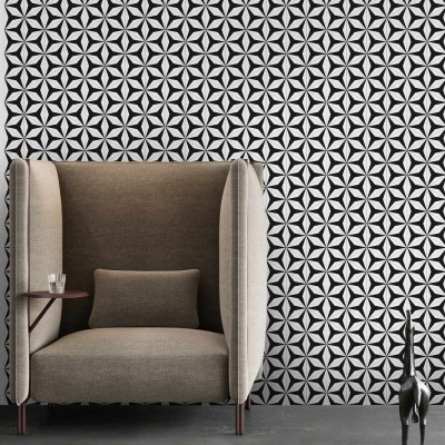 Abstract Hexagons 3 modern washable self-adhesive vinyls lokoloko detail