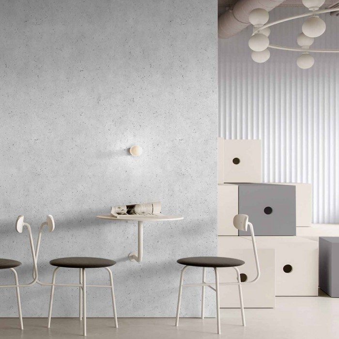 Erno Cement self-adhesive washable vinyl for walls, furniture and floors kitchens tile backslash gray minimal lokoloko