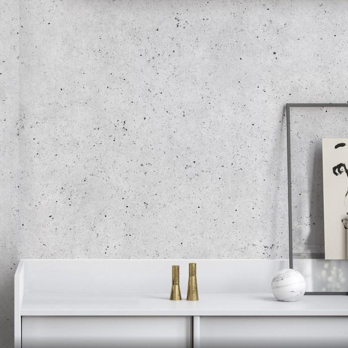 Erno Cement - Self-adhesive eco-friendly PVC-free wallpaper for living rooms bedrooms halls corridors lokoloko gray