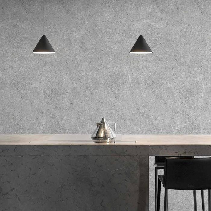 Habitat Cement - opaque self-adhesive washable vinyl for walls, furniture and floors kitchens bathrooms minimalist lokoloko