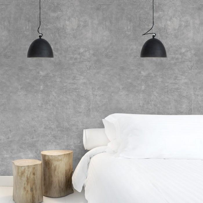 Hermit Cement - Self-adhesive eco-friendly PVC-free wallpaper for living rooms bedrooms halls nordic lokoloko gray