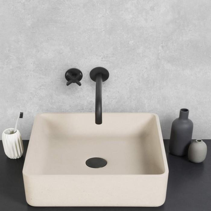 Testa Cement -  washable self-adhesive opaque vynil for furniture, floor and walls  bathroom lokoloko