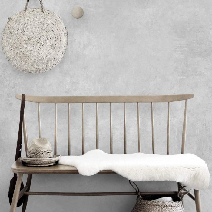Testa Cement -Self-adhesive eco-friendly PVC-free wallpaper for living rooms bedrooms halls corridors lokoloko gray