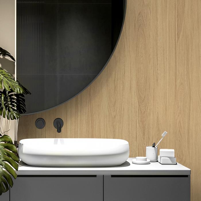 Eura Wood - opaque self-adhesive washable vinyl for bathrooms toilets walls floors nordico minimal lokoloko
