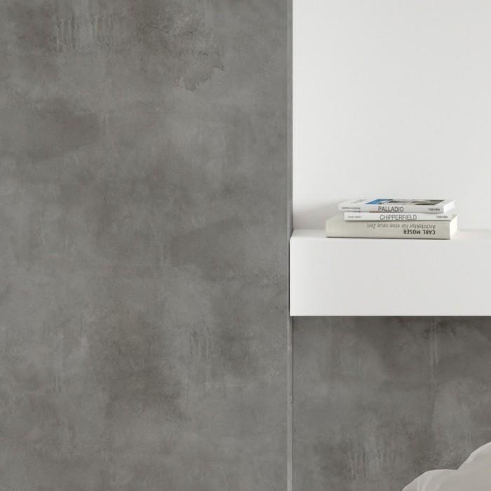 Dark gray concrete - Self-adhesive eco-friendly PVC-free wallpaper for living rooms bedrooms halls nordic lokoloko gray