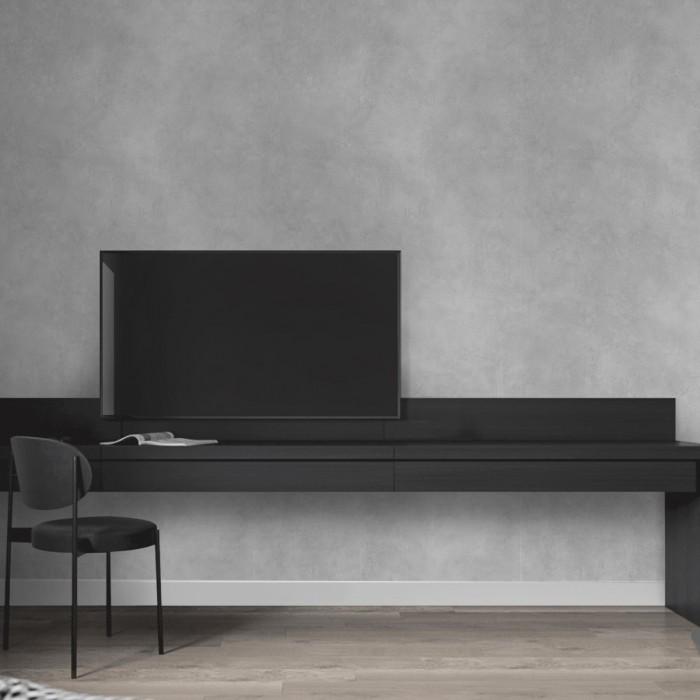 Natural Grey Concrete - Self-adhesive eco-friendly PVC-free wallpaper for living rooms TV halls nordic lokoloko gray