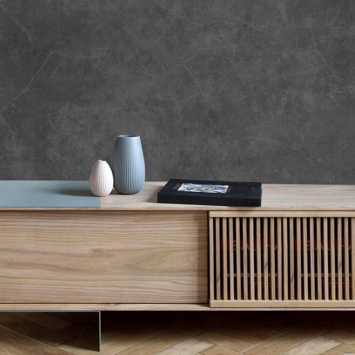 Grafito Grey Concrete - Self-adhesive eco-friendly PVC-free wallpaper for living rooms bedrooms halls corridors lokoloko