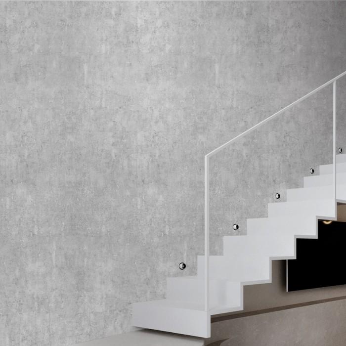 Light industrial concrete - Self-adhesive eco-friendly PVC-free wallpaper for walls halls corridors gray minimalist lokoloko