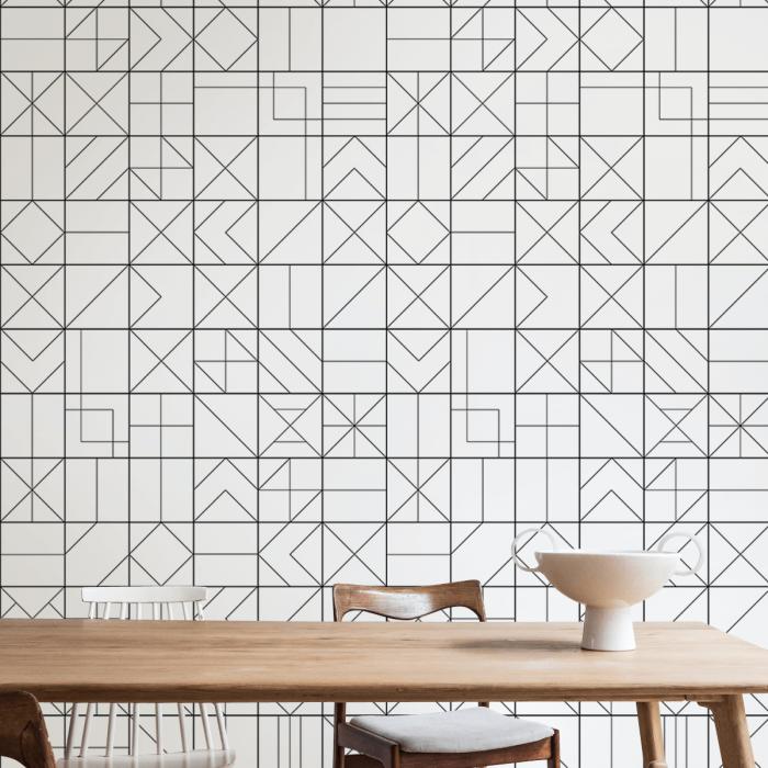 Vasili 2 - eco-friendly pvcfree self-adhesive wallpaper livingroom hall minimal japandi lokoloko