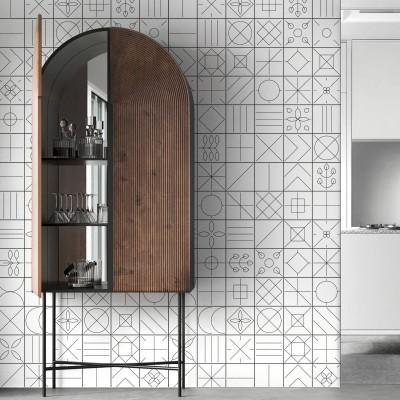 Vasili 1 - eco-friendly pvcfree self-adhesive wallpaper livingroom hall minimal japandi lokoloko