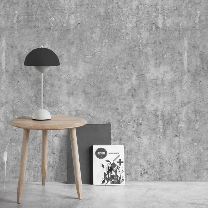 Dark industrial concrete  - Self-adhesive eco-friendly PVC-free wallpaper for living rooms bedrooms halls corridors lokoloko