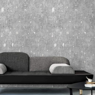 New Age Cement - Self-adhesive eco-friendly PVC-free wallpaper for living rooms bedrooms halls corridors lokoloko