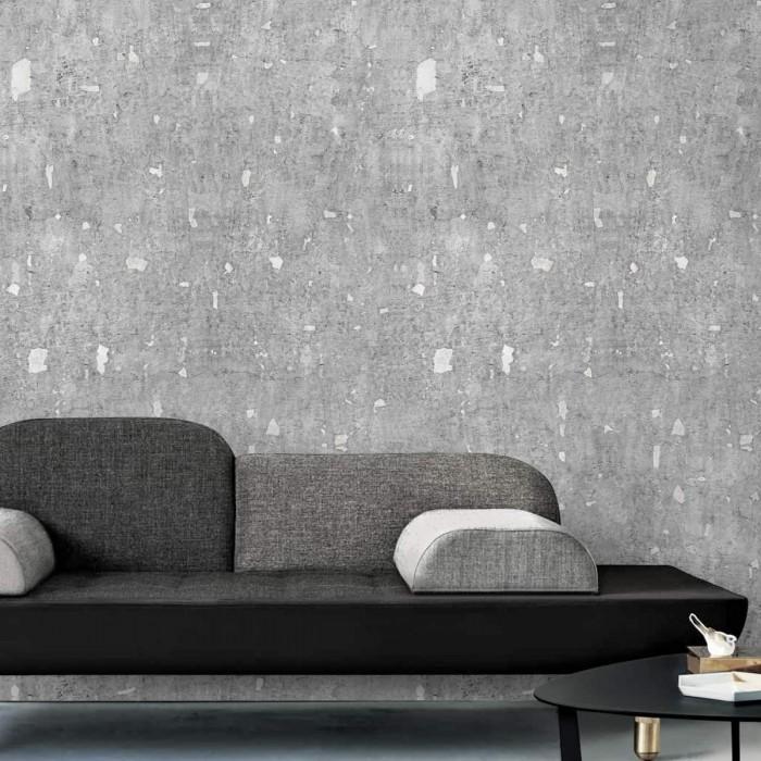 eco-friendly sinpvc self-adhesive wallpaper livingroom hall minimal japandi grey lokoloko