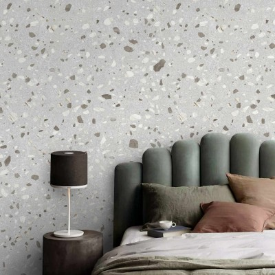 Calacatta Marble Terrazzo - Self-adhesive eco-friendly PVC-free wallpaper for living rooms bedrooms halls corridors lokoloko