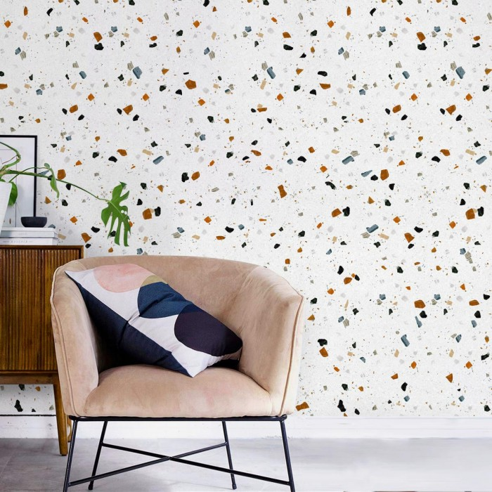 Ducal Terrazzo - Self-adhesive eco-friendly PVC-free wallpaper for living rooms bedrooms halls corridors lokoloko