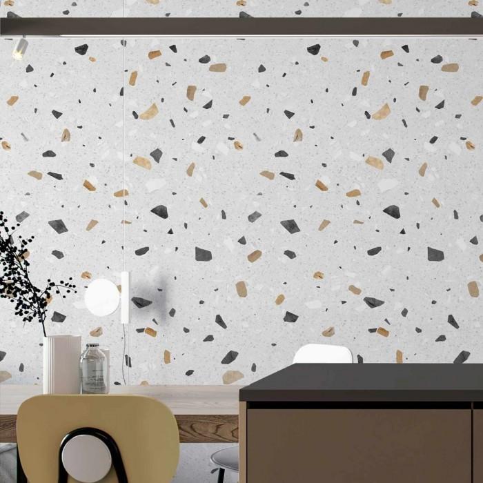 Pesaro Terrazzo - Self-adhesive eco-friendly PVC-free wallpaper for living rooms bedrooms halls corridors lokoloko