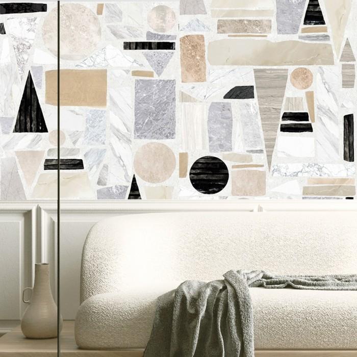 Big 2 Terrazzo  - Self-adhesive eco-friendly PVC-free wallpaper for living rooms bedrooms halls corridors lokoloko