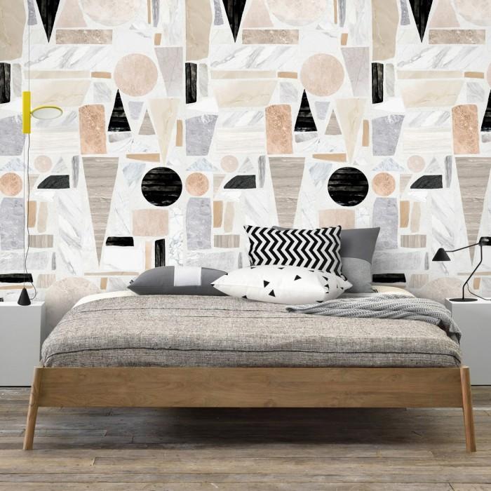 Big Terrazzo - Self-adhesive eco-friendly PVC-free wallpaper for living rooms bedrooms halls corridors lokoloko