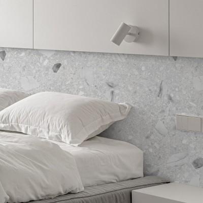 Venecia Terrazzo - eco self-adhesive paper to decorate walls halls gray marble minimal lokoloko