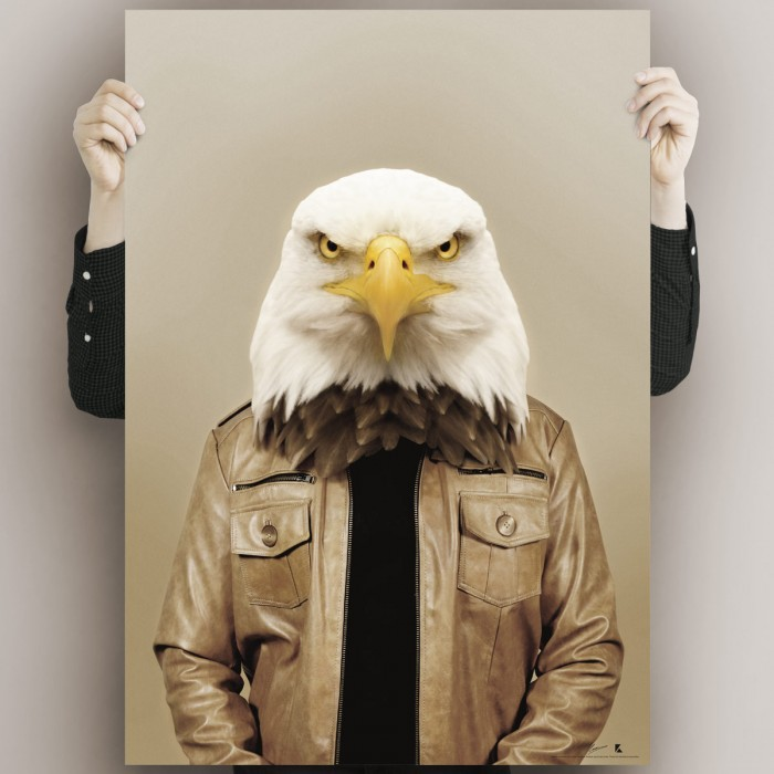 Eagle model waterproof poster for interior exterior in high quality. lokoloko