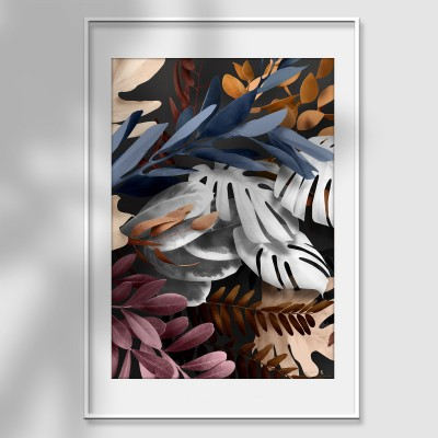 Bohemia 1 poster - author's poster print leaves flowers eucalyptus earth burgundy blue glam lokoloko