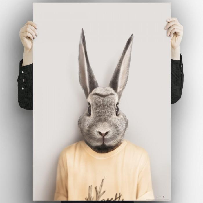 Rabbit Model-poster-washable-model-for-interior-exterior-complement-decoration-modern-children's-walls-lokoloko