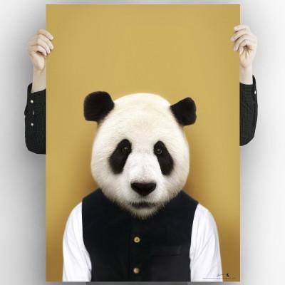 Panda Bear Model-detail-washable-poster-for-exterior-interior-dog-decoration-fun-original-modern-style-lokoloko