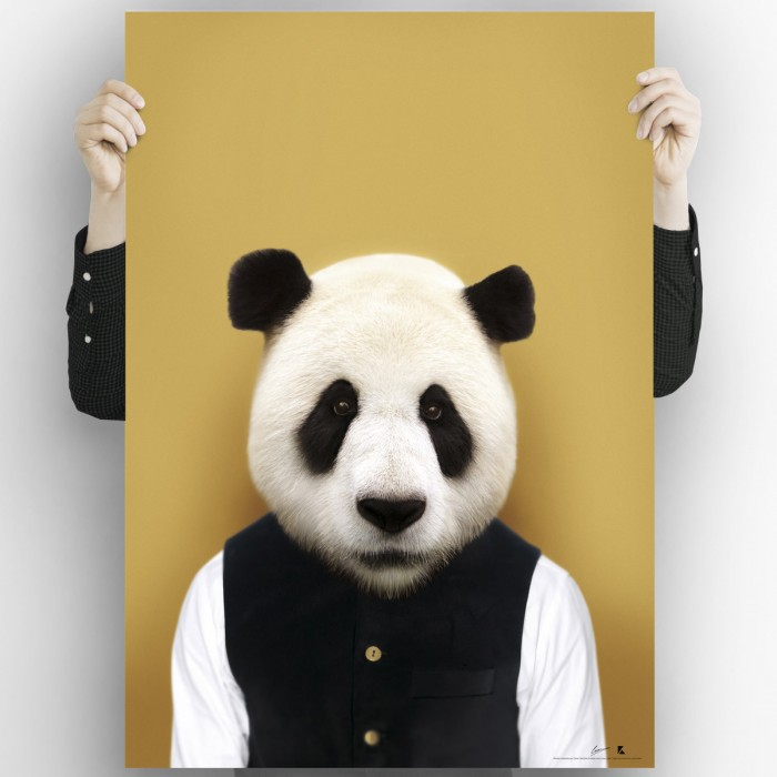 Panda Bear Model-washable-poster-for-exterior-interior-dog-decoration-fun-original-modern-style-lokoloko