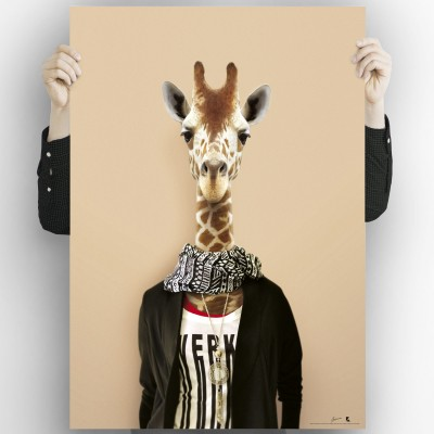Giraffe Model-Washable-poster-for-exterior-interior-dog-decoration-fun-original-modern-style-lokoloko