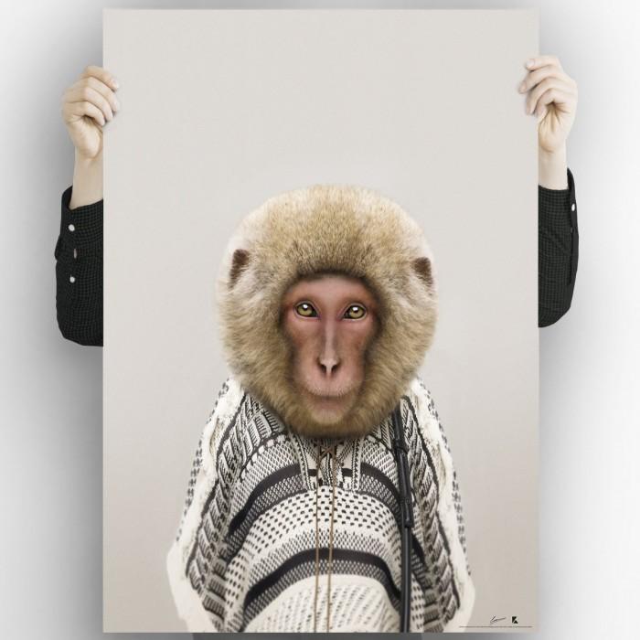 Monkey Model-albino-washable-poster-for-exterior-interior-dog-decoration-fun-original-modern-style-lokoloko