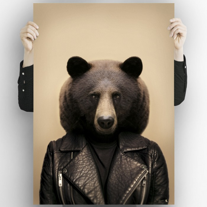 Brown Bear Model-washable-poster-for-exterior-interior-dog-decoration-fun-original-modern-style-lokoloko