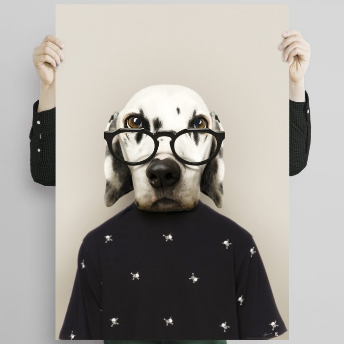 Dalmatian-poster-washable-model-for-exterior-interior-dalmatian-dog-painting-decoration-complement-modern-wall-lokoloko