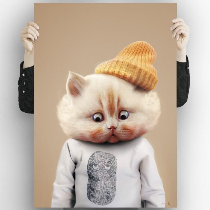 Kitten Model 2-Kitten model 2-poster-washable-high-quality-for-interior-exterior-decoration-modern-original-lokoloko