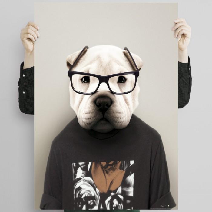 Shar Pei Model-Shar Pei model-decorative-poster-washable-interior-exterior-dog-modern-cool-eco-lokoloko