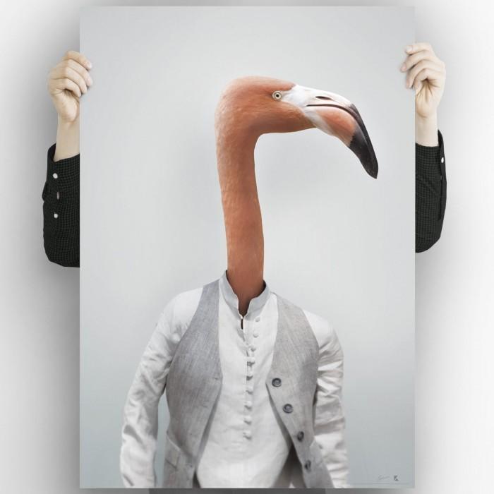 Flamingo-model-poster-for-decoration-modern-interior-exterior-washable-lokoloko