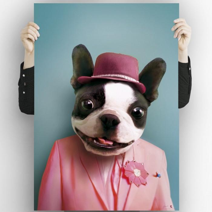 Cool Dog Model 2-poster-washable-for-exterior-interior-dog-decoration-fun-original-modern-style-lokoloko