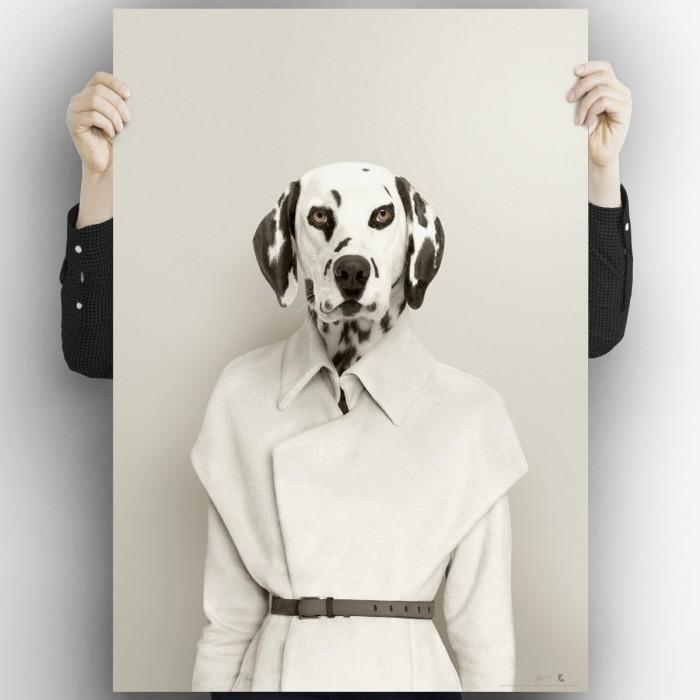 Dalmatian model 2-poster-washable-for-interior-exterior-walls-style-modern-minimalist-dogs-lokoloko