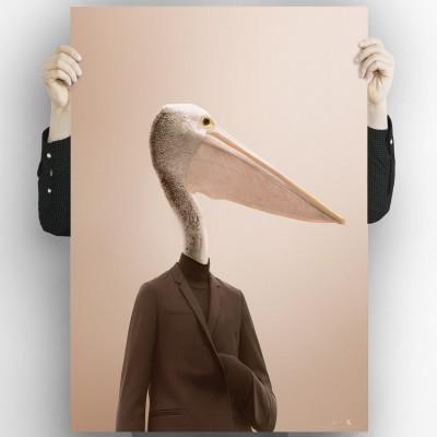 Pelican model-poster-washable-for-exterior-interior-dog-decoration-fun-original-style-modern-lokoloko