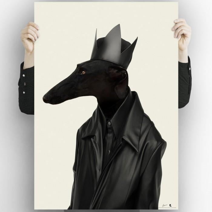 Greyhound Black Rock Light-poster-washable-eco-for-interior-exterior-style-minimalist-modern-dog-greyhound-lokoloko