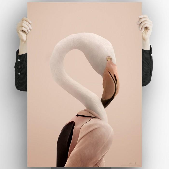 Flamingo model 2-poster-washable-for-walls-interior-exterior-decoration-modern-minimal-lokoloko