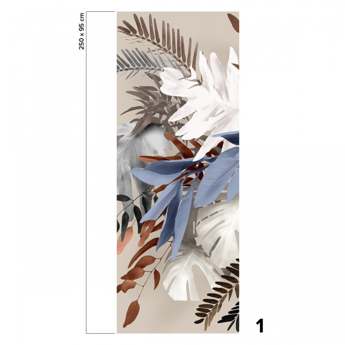 Glam - piece 1 - self-adhesive ecological free pvc wall mural. vegetal style, abstract, colorful bedroom, hall, salon