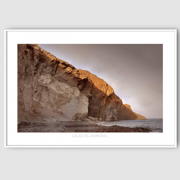 Coves of Barronal-almería-beach-cabo-de-gata-poster-washable-for-exterior-interior-walls-accessories-lokoloko