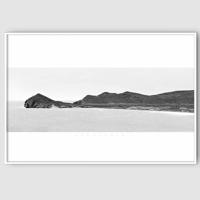 Genoveses 2 BN  black and white-almeria-playa-cabo-de-gata-poster-for-exterior-interior-walls-decoration-accessories-lokoloko