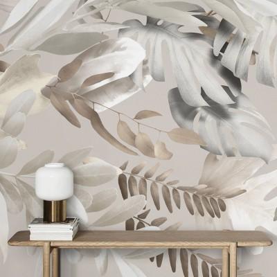 Galana - Eco-friendly self-adhesive wall paper mural without pvc walls living room corridor plant minimalism warm lokoloko