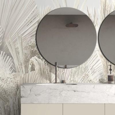 Ibiza - Self-adhesive washable vinyl mural for walls bathroom tiles sink, showers or bathtubs, sheets warm minimalism